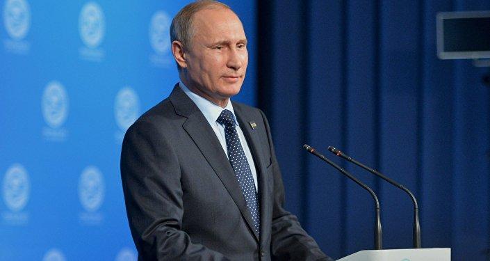 Presidente da Rússia Vladimir Putin, em Ufa