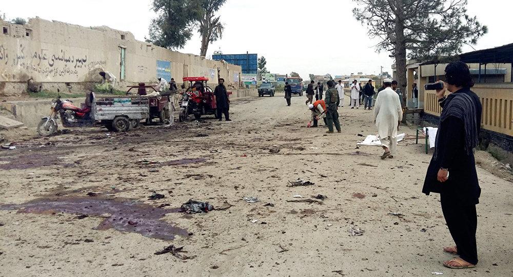 Província de Khost, no Afeganistão, em 2 de abril de 2015, data de outro atentado suicida
