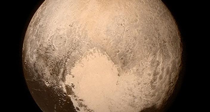 Plutão, foto divulgada em 13 de julho pela NASA