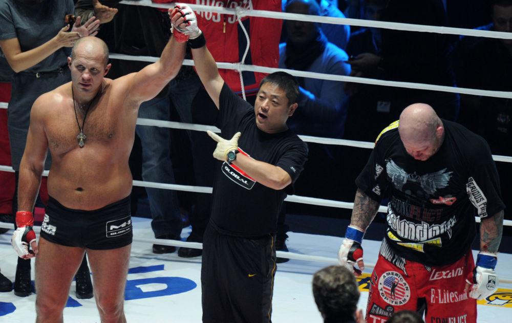 Fedor Emelianenko após vitória sobre Jeff Monson.