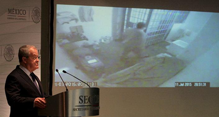 Imagens de El Chapo antes da fuga.