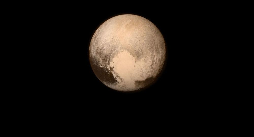 Imagem de Plutão feita pela sonda NASA New Horizons