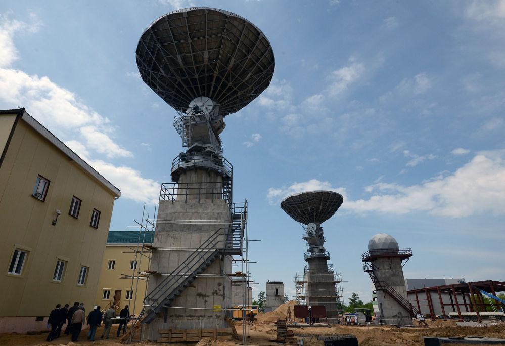 Uma antena no cosmódromo Vostochny.