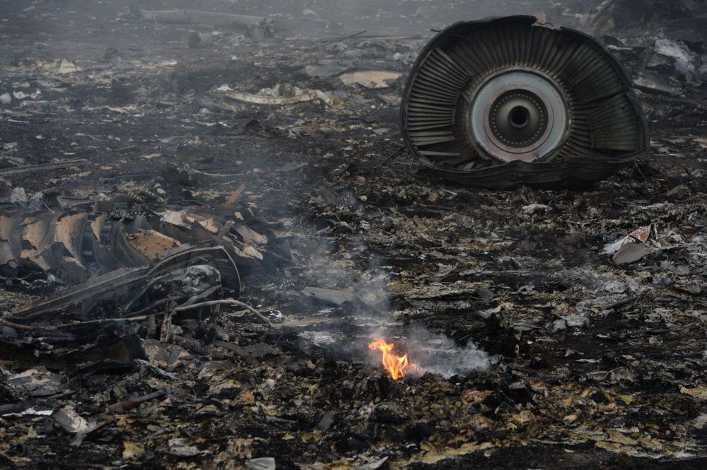 No local da queda do avião da Malaysia Airlines na região de Donetsk, no leste da Ucrânia