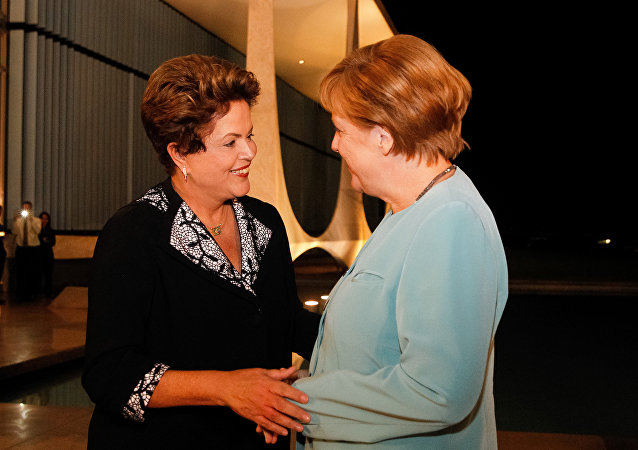 Dilma Rousseff e Angela Merkel