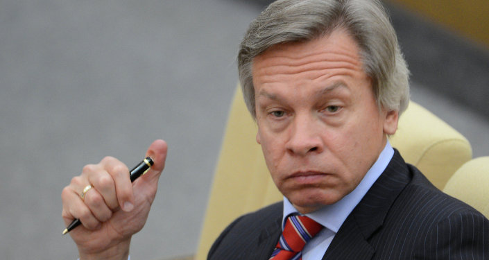 Presidente do Comitê da Duma de Estado para as Relações Exteriores, Aleksei Pushkov