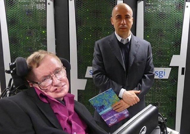 Stephen Hawking e Yuri Milner