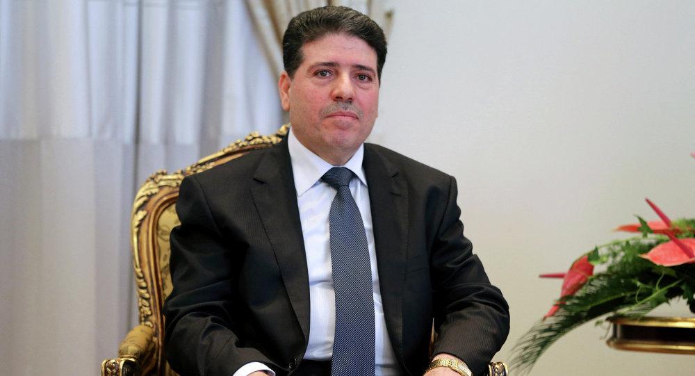 Syrian Prime Minister Wael Nader al-Halqi