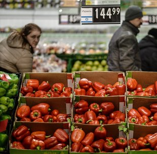 Supermercado em Veliky Novgorod, na Rússia