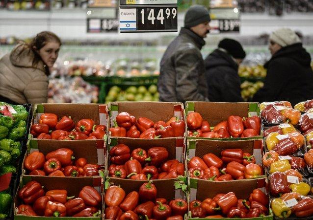Supermercado em Veliky Novgorod, na Rússia (arquivo)