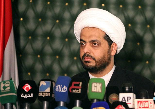 Qais al-Khazali, líder da milícia xiita iraquiana Assaib Ahl al-Haq.