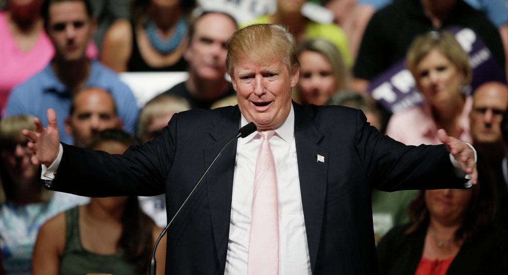 Candidato à presidência dos EUA pelo Partido Rebuplicano, Donald Trump