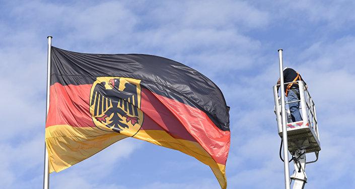 Bandeira da Alemanha em Berlim
