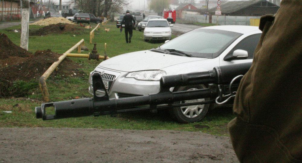 Operação especial na Ingushetia. Foto de arquivo