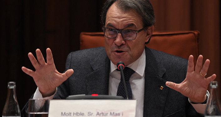 Artur Mas, presidente do governo da Catalunha