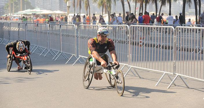 Copacabana recebeu eventos-teste de triatlo e paratriatlo no último final de semana