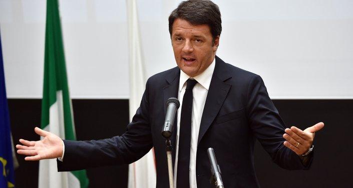 Primeiro-ministro italiano Matteo Renzi