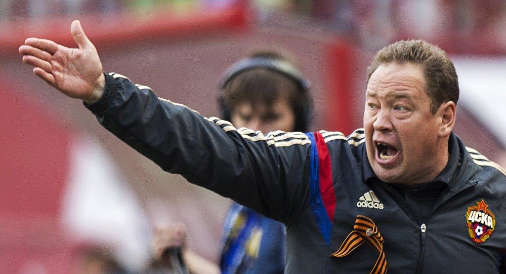 Leonid Slutsky, técnico do CSKA Moscou.