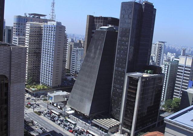 Edifício sede da Fiesp na Avenida Paulista, São Paulo