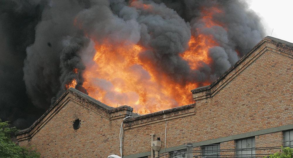 Incêndio atinge o shopping Nova América