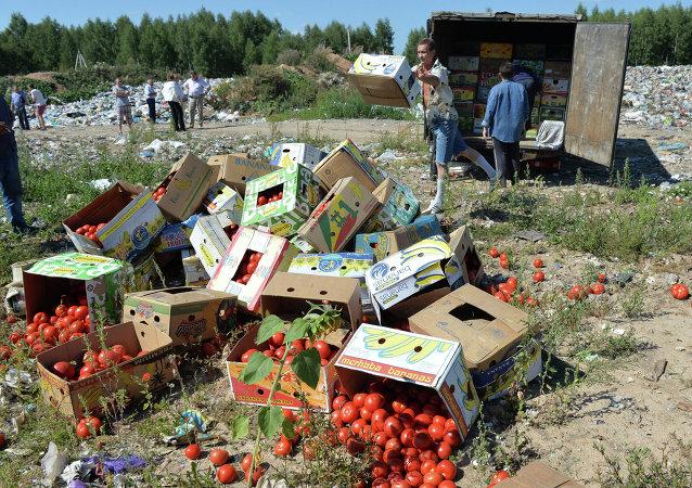 Tomates proibidos a entrar a Rússia foram destruídos na fronteira com a Bielorrússia, na região da cidade de Smolensk