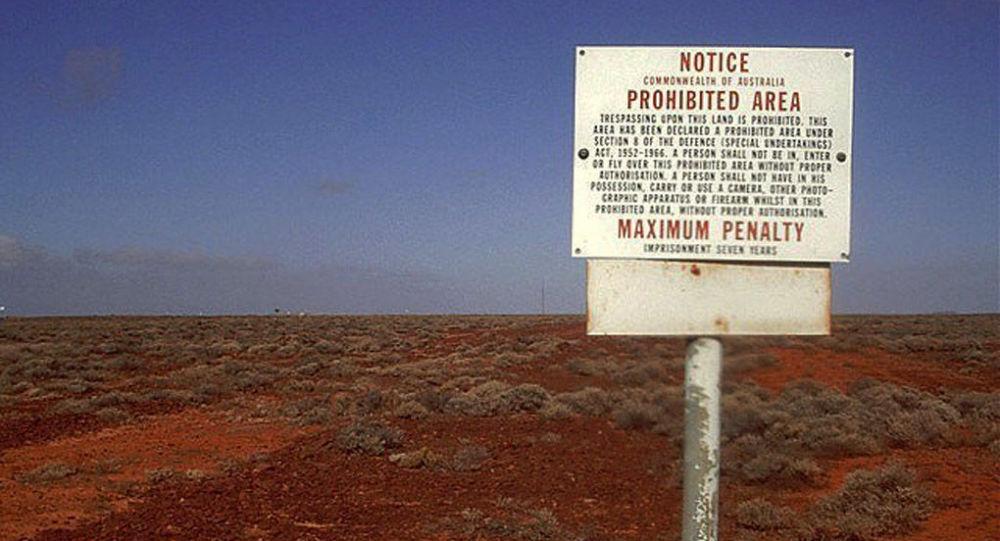 A zona proibida no polígono Woomera na Austrália