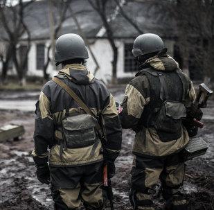 Combatentes da Autoproclamada República Popular de Donetsk