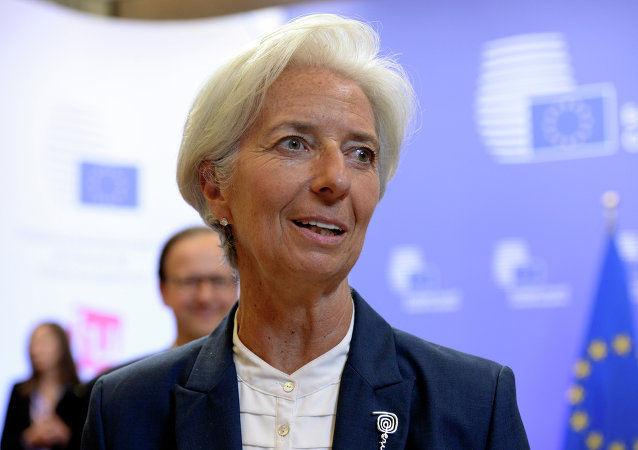 Christine Lagarde, diretora do FMI, após cúpula da Zona do Euro em Bruxelas, 13 de julho de 2015