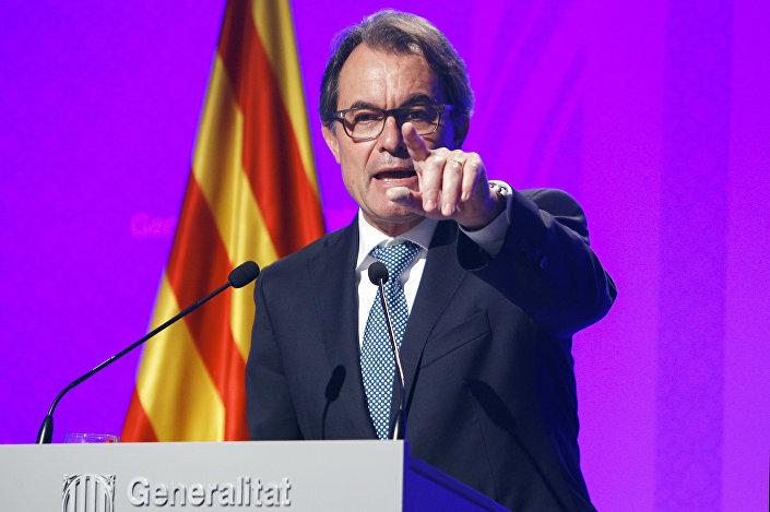 Artur Mas, presidente do governo da comunidade autônoma de Catalunha