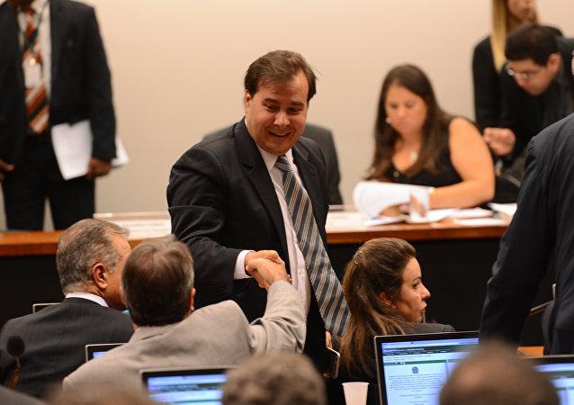 Deputado Rodrigo Maia (DEM-RJ), relator do projeto que muda o cálculo de reajuste do Fundo de Garantia do Tempo de Serviço (FGTS)
