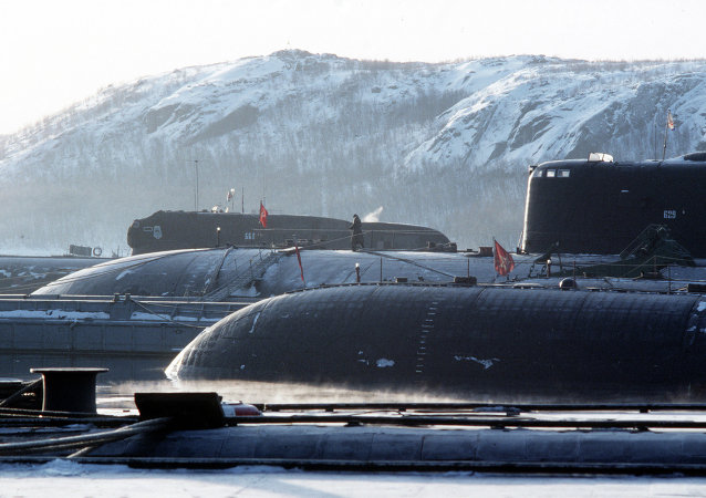 Northern Fleet. Nuclear submarines base