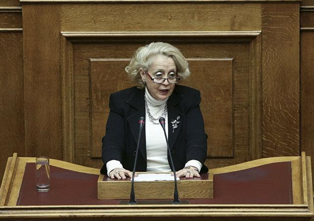Vassiliki Thanou, juíza da Suprema Corte da Grécia e nomeada primeira-ministra interina do país.