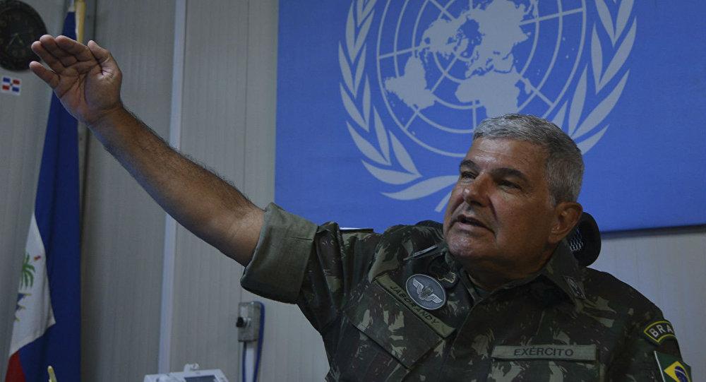 General José Luiz Jaborandy Júnior, comandante da Força Militar da Missão das Nações Unidas para a Estabilização no Haiti (Minustah).
