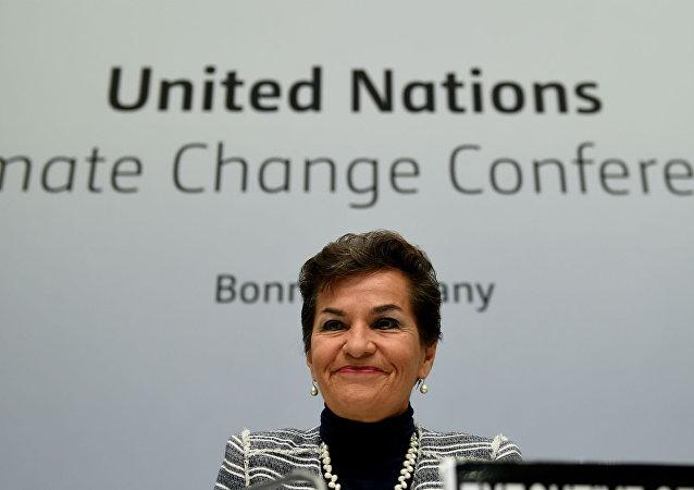 Christiana Figueres, secretária executiva da convenção quadro das Nações Unidas.