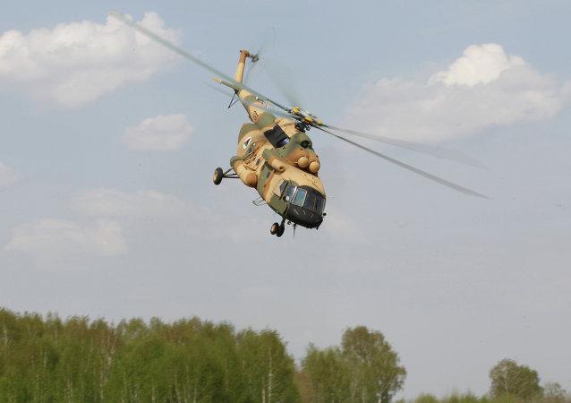 A apresentação do helicóptero Mi-17 V-5