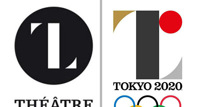 Logos do Teatro de Liêge e o descartado da Olimpíada de Tóquio.