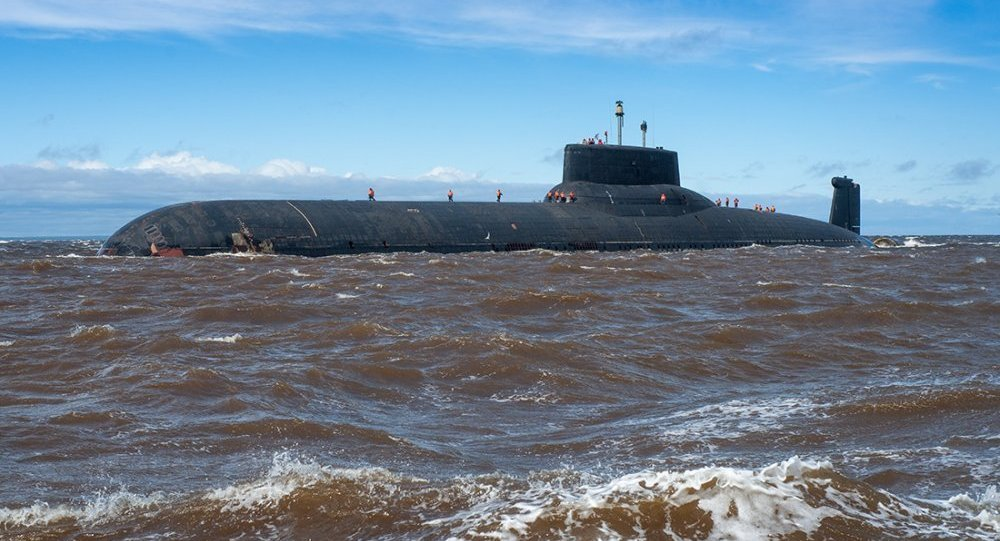Submarino nuclear russo Dmitry Donskoy.