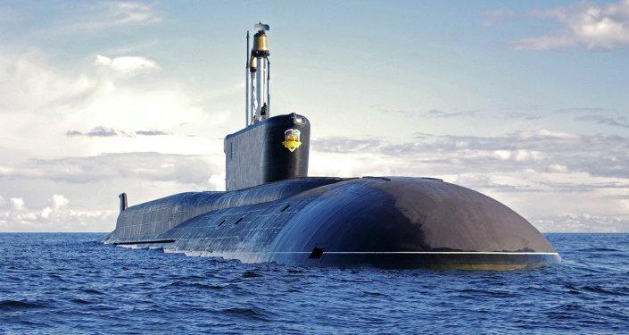 Submarino nuclear da classe Borei Aleksandr Nevsky (foto do arquivo)
