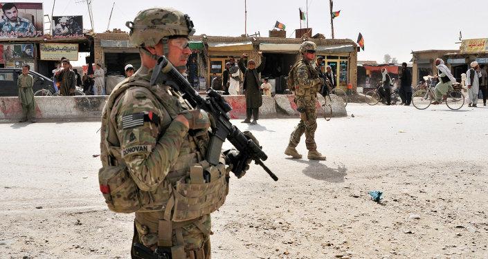 Soldado das tropas norte-americanas na província de Candaar, Afeganistão