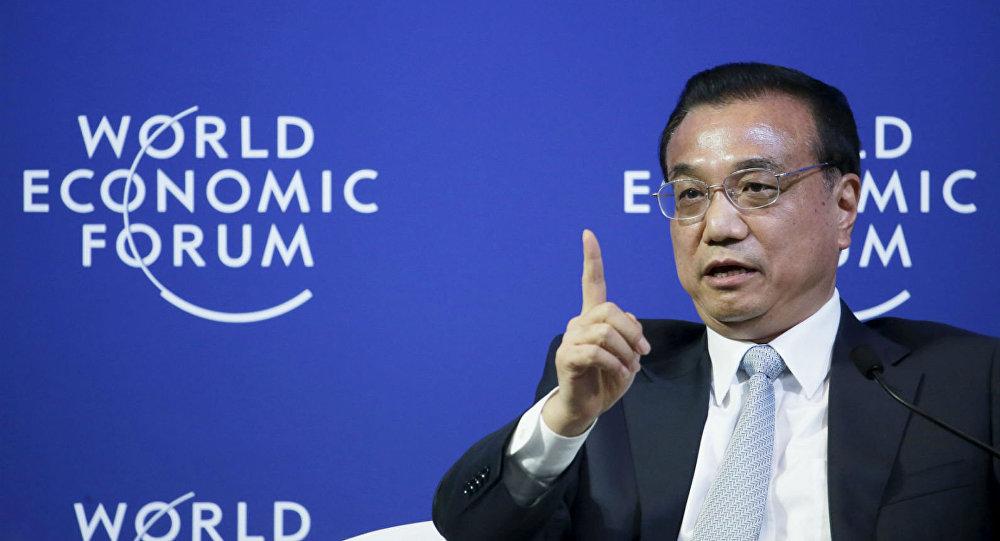 Li Keqiang, no Fórum Econômico Mundial, em Dalian.