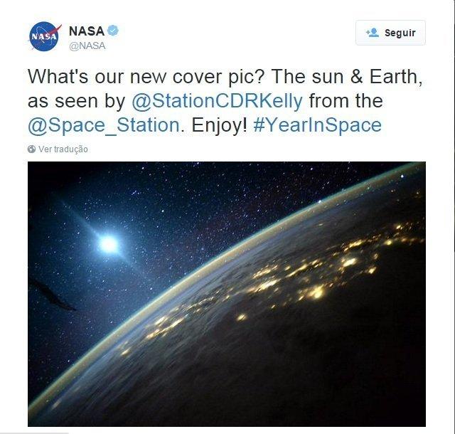 Post da NASA no Twitter.