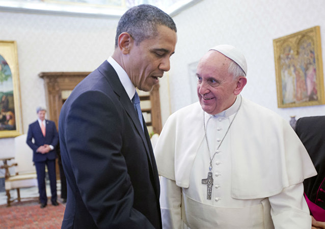 Barack Obama e Papa Francisco.