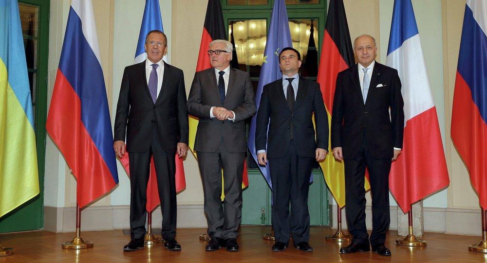 Ministros das Relações Exteriores do quarteto de Normandia