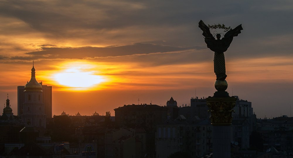 Praça de Independência (Maidan Nezalezhnosti) em Kiev