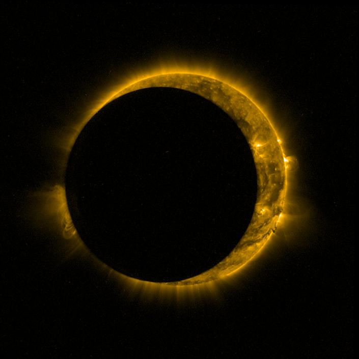 A sonda Proba-2 tirou fotos do eclipse solar