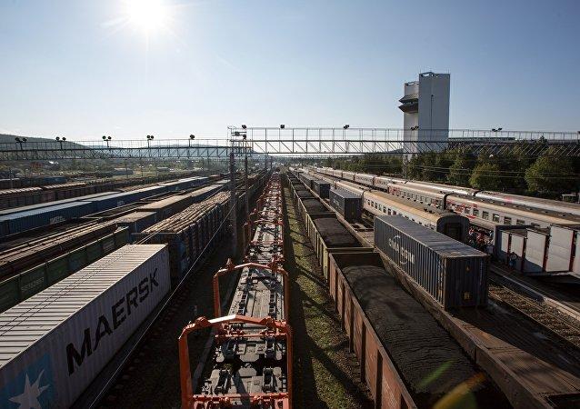 Ferrovias na Rússia.