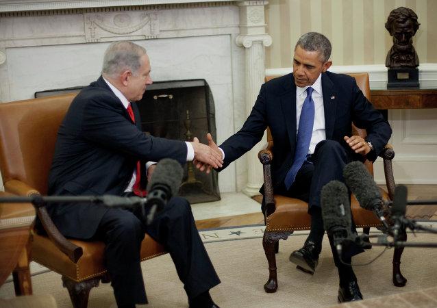 Benjamin Netanyahu e Barack Obama durante encontro no Salão Oval da Casa Branca, em 3 de março de 2014