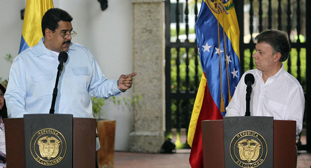 Nicolás Maduro e Juan Manuel Santos se encontraram em Cartagena, na Colômbia, em abril do ano passado.