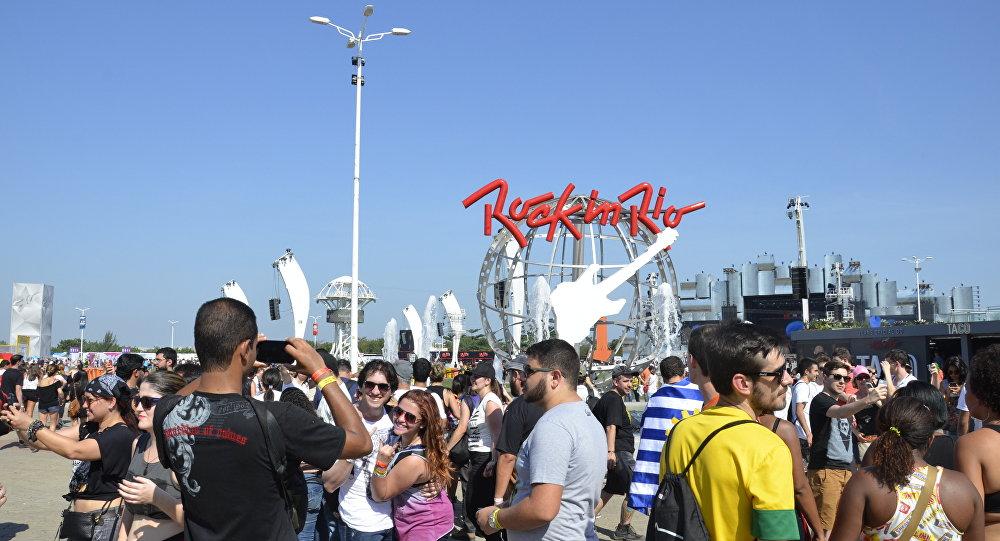 Cidade do Rock, na Barra da Tijuca, no Rio de Janeiro