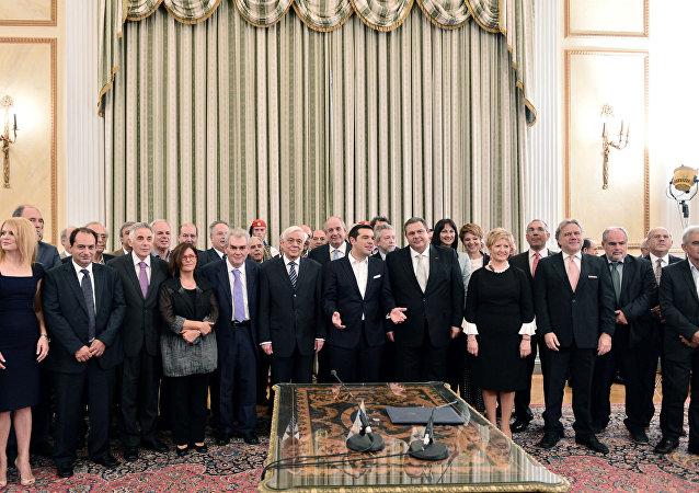 Apresentação do novo ministério da Grécia.